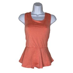 ⭐️ Seductions coral embossed tank top size small